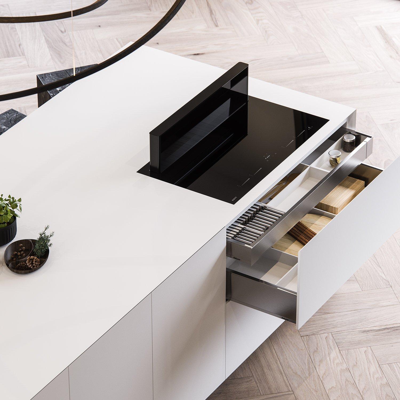 CGI 3D visualization interior, product, Clay kitchen